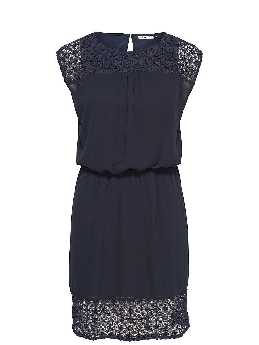 ONLY Ruimvallende Mouwloze jurk blauw