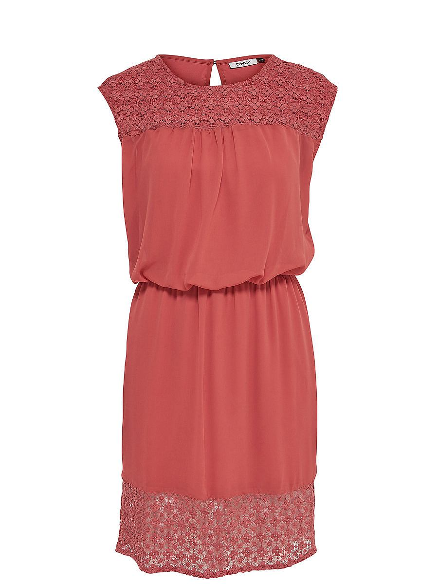 ONLY Ruimvallende Mouwloze jurk multicolor