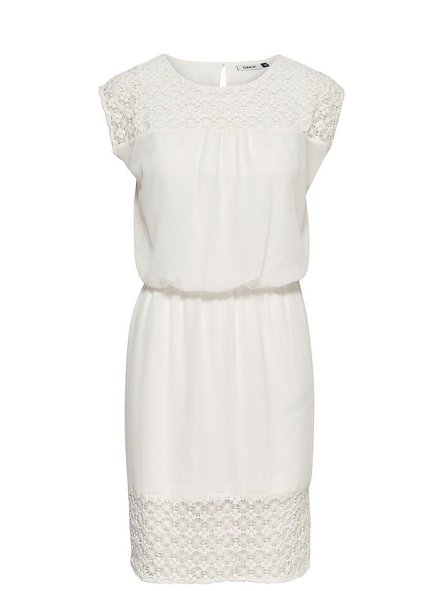 ONLY Ruimvallende Mouwloze jurk wit