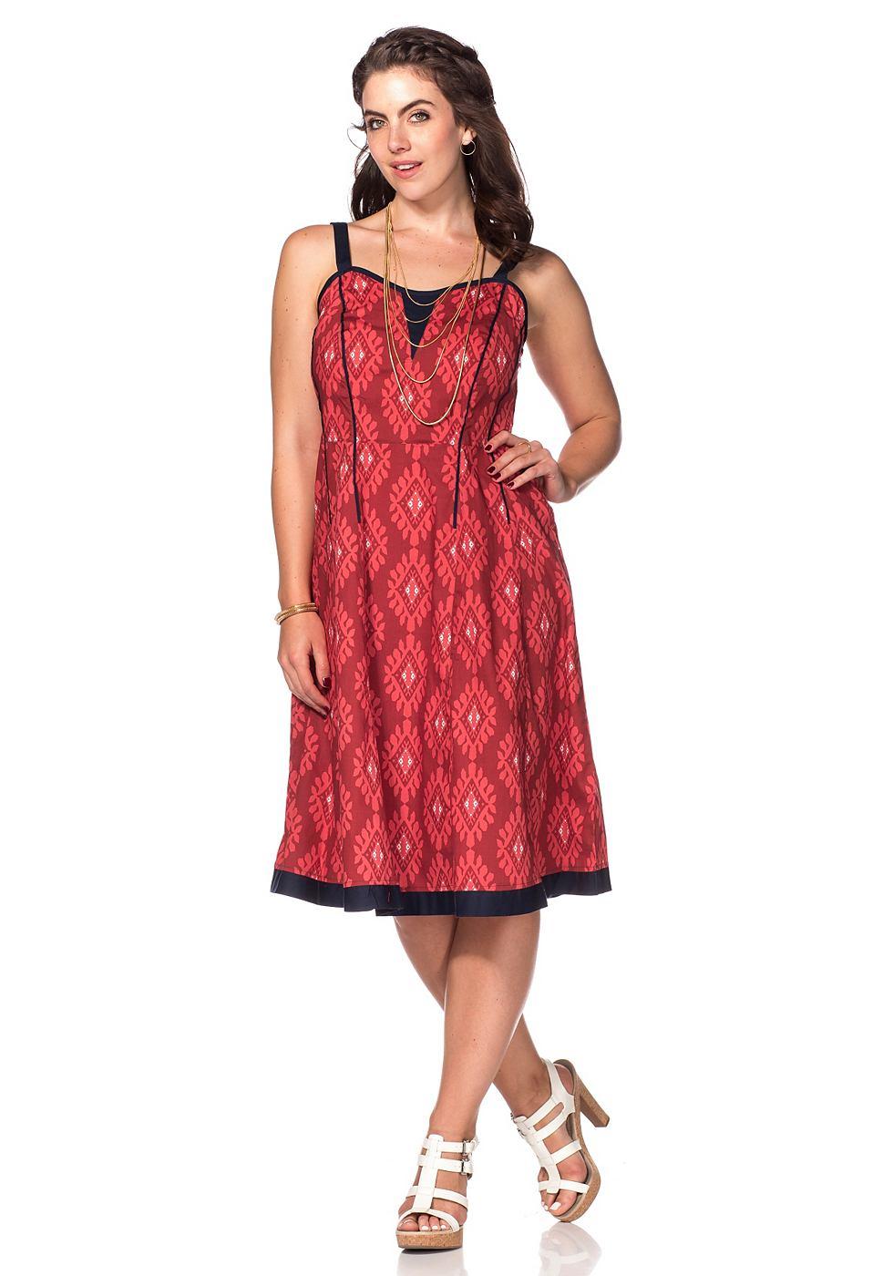 Joe Browns jurk in overgooiermodel rood
