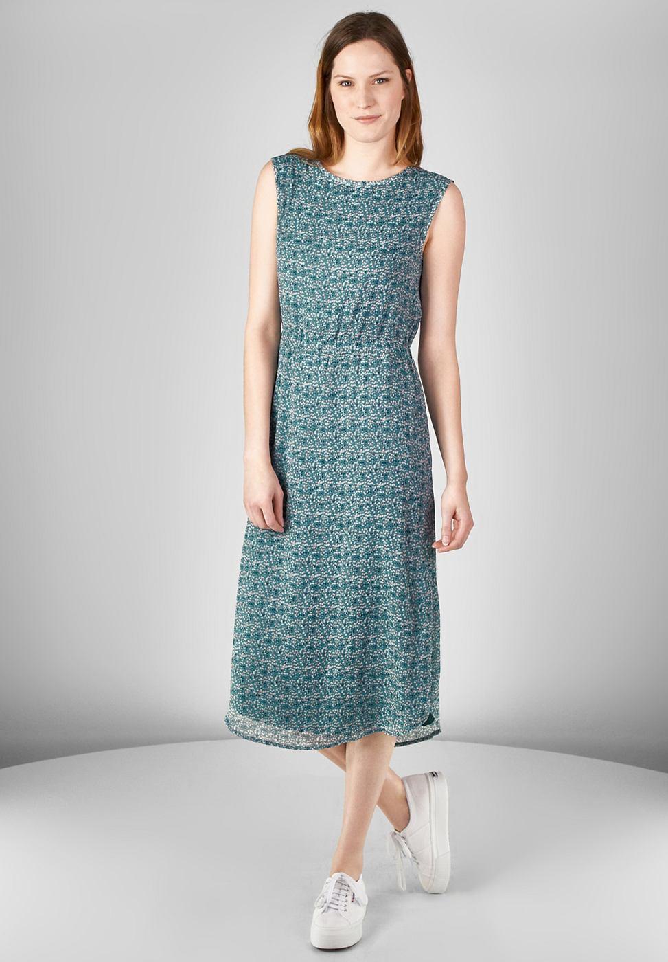 Street One chiffon jurk Jennifer blauw