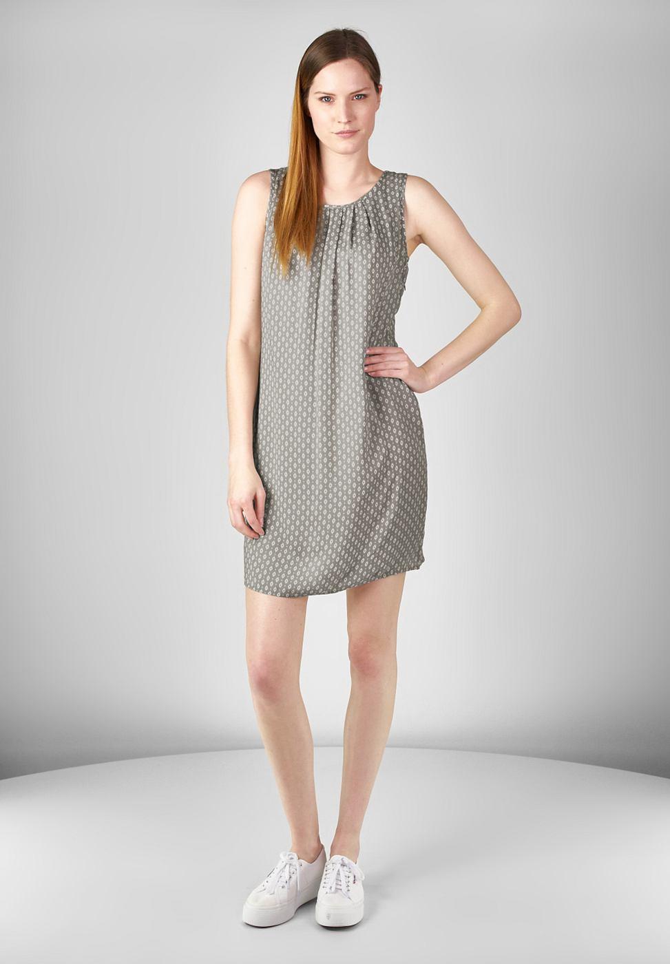 Street One Mouwloze jurk Olivia grijs