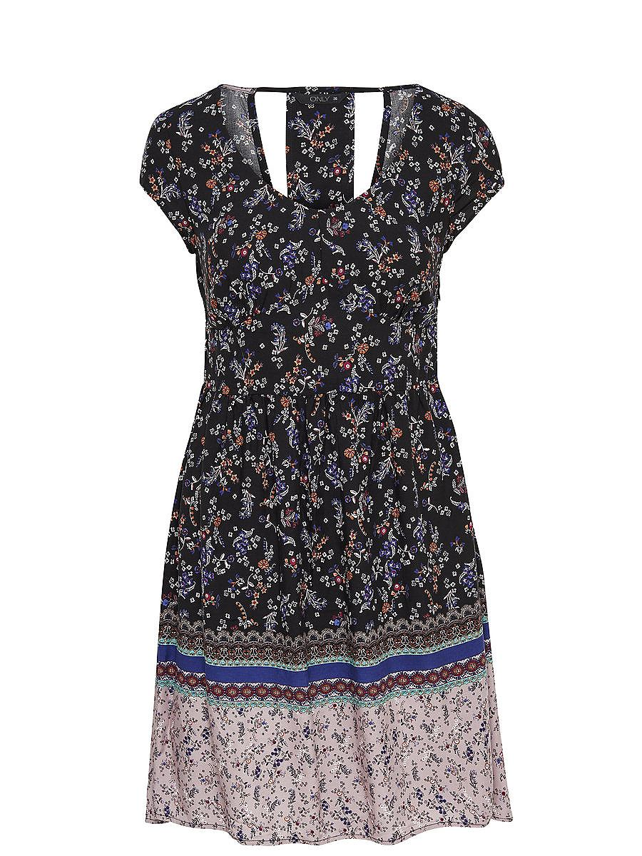 ONLY Print jurk met korte mouwen multicolor