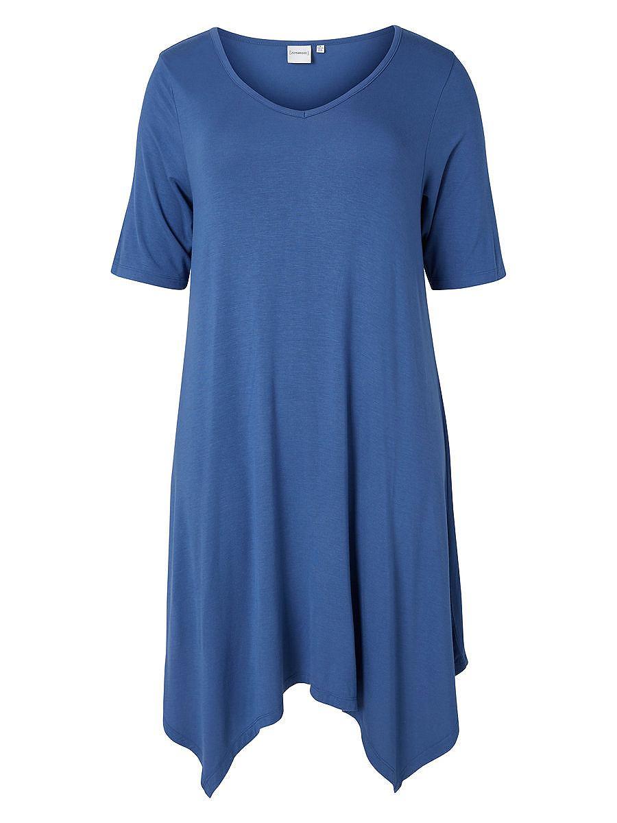 Junarose 2/4 mouw jurk blauw