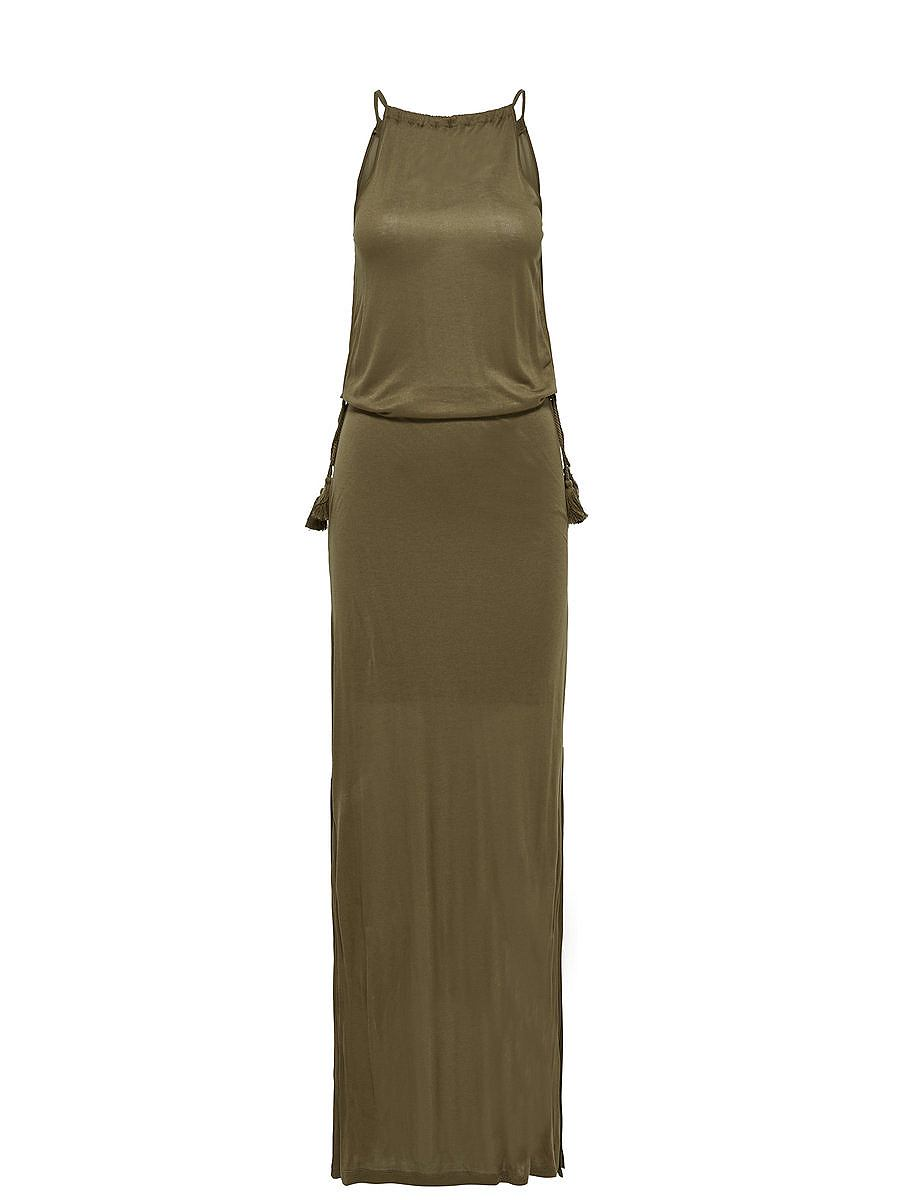 ONLY Mouwloze Mouwloze jurk bruin
