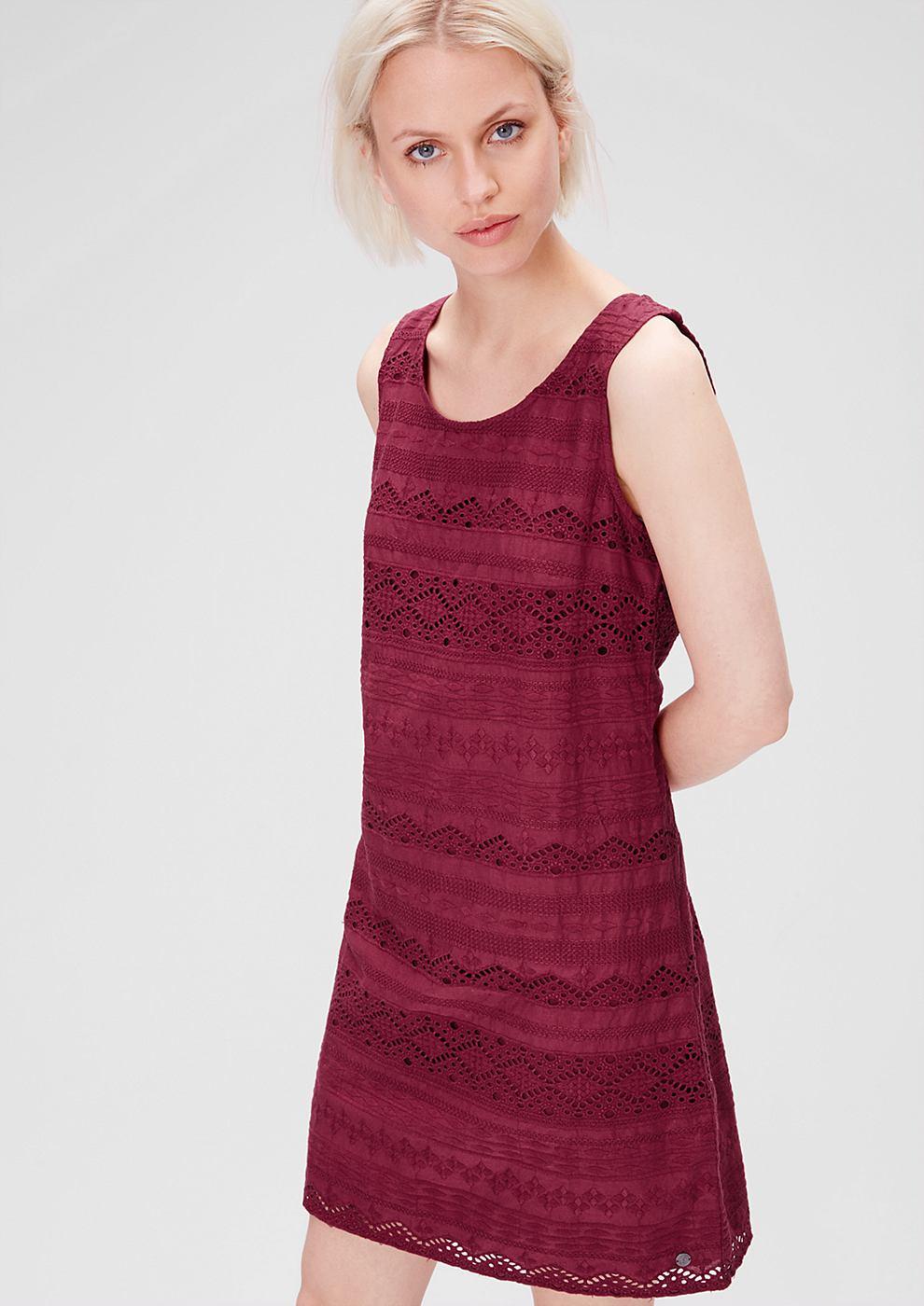 s.Oliver jurk van katoenen kant roze