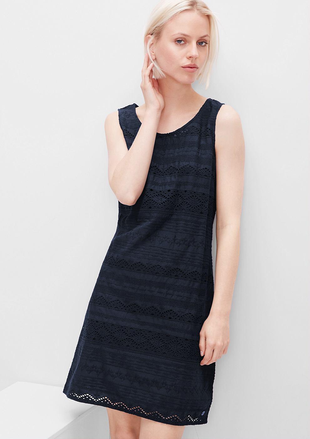 s.Oliver jurk van katoenen kant blauw