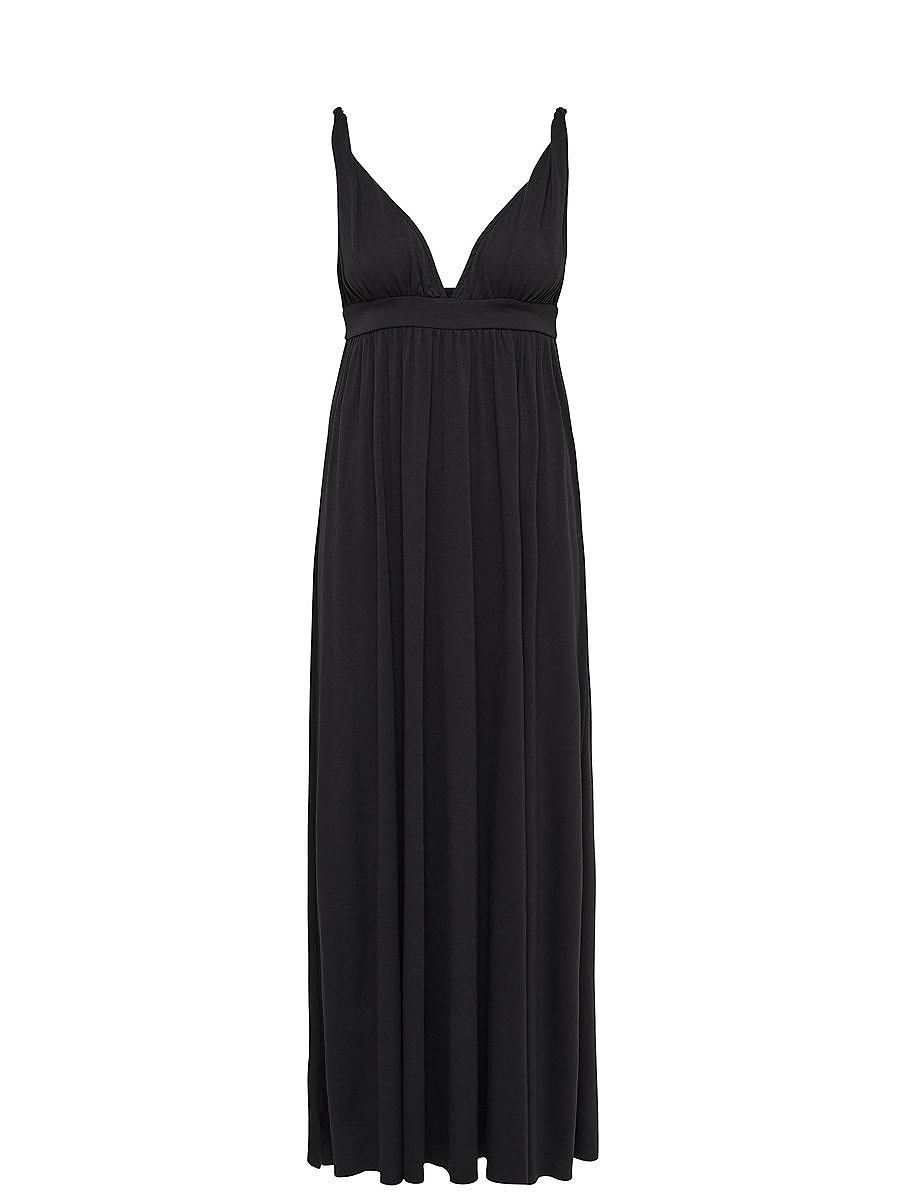 ONLY Lange Mouwloze jurk zwart