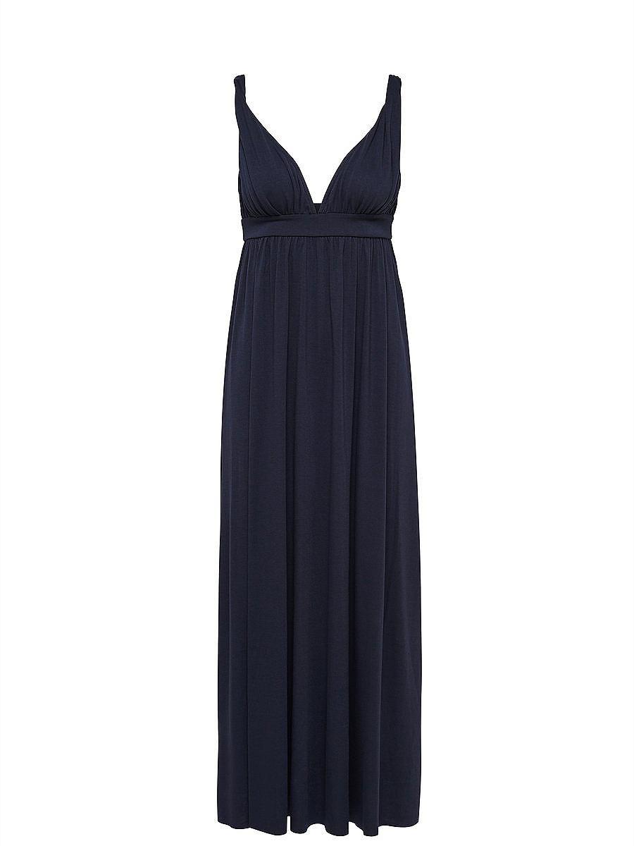 ONLY Lange Mouwloze jurk blauw