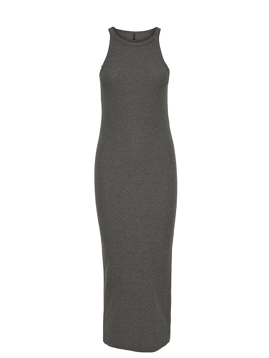 ONLY Kuitlange Mouwloze jurk grijs