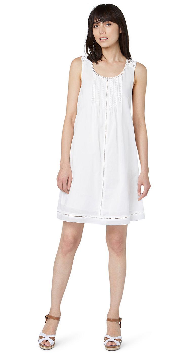 Tom Tailor jurk »summer a-shape dress« wit