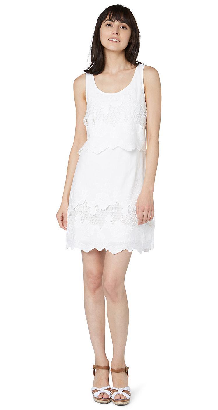 Tom Tailor jurk »Sommerkleid mit floralen Details« wit