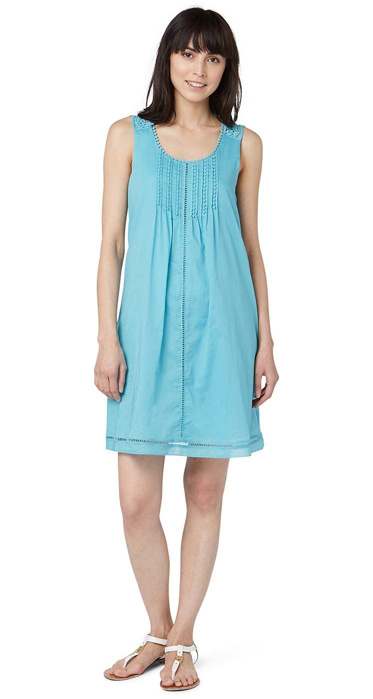 Tom Tailor jurk »summer a-shape dress« groen
