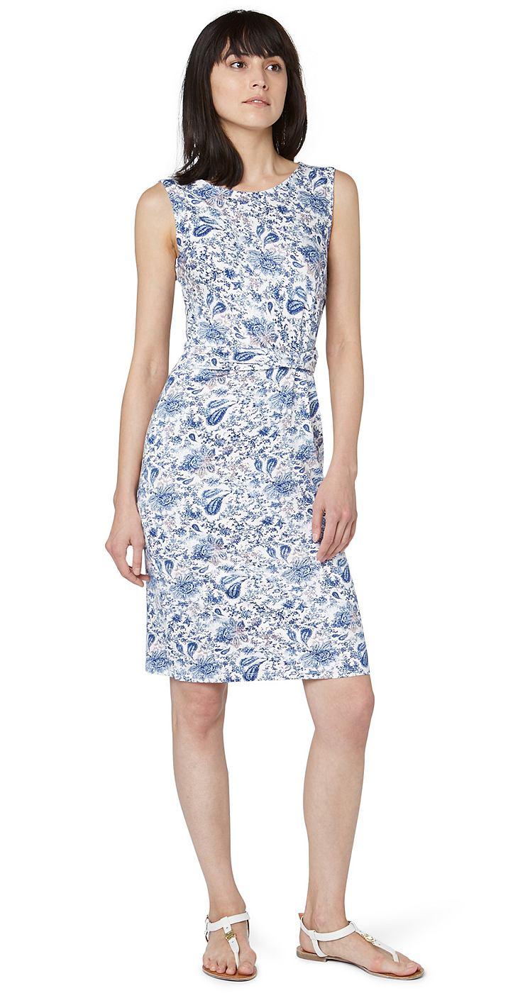 Tom Tailor jurk »easy summer dress« wit