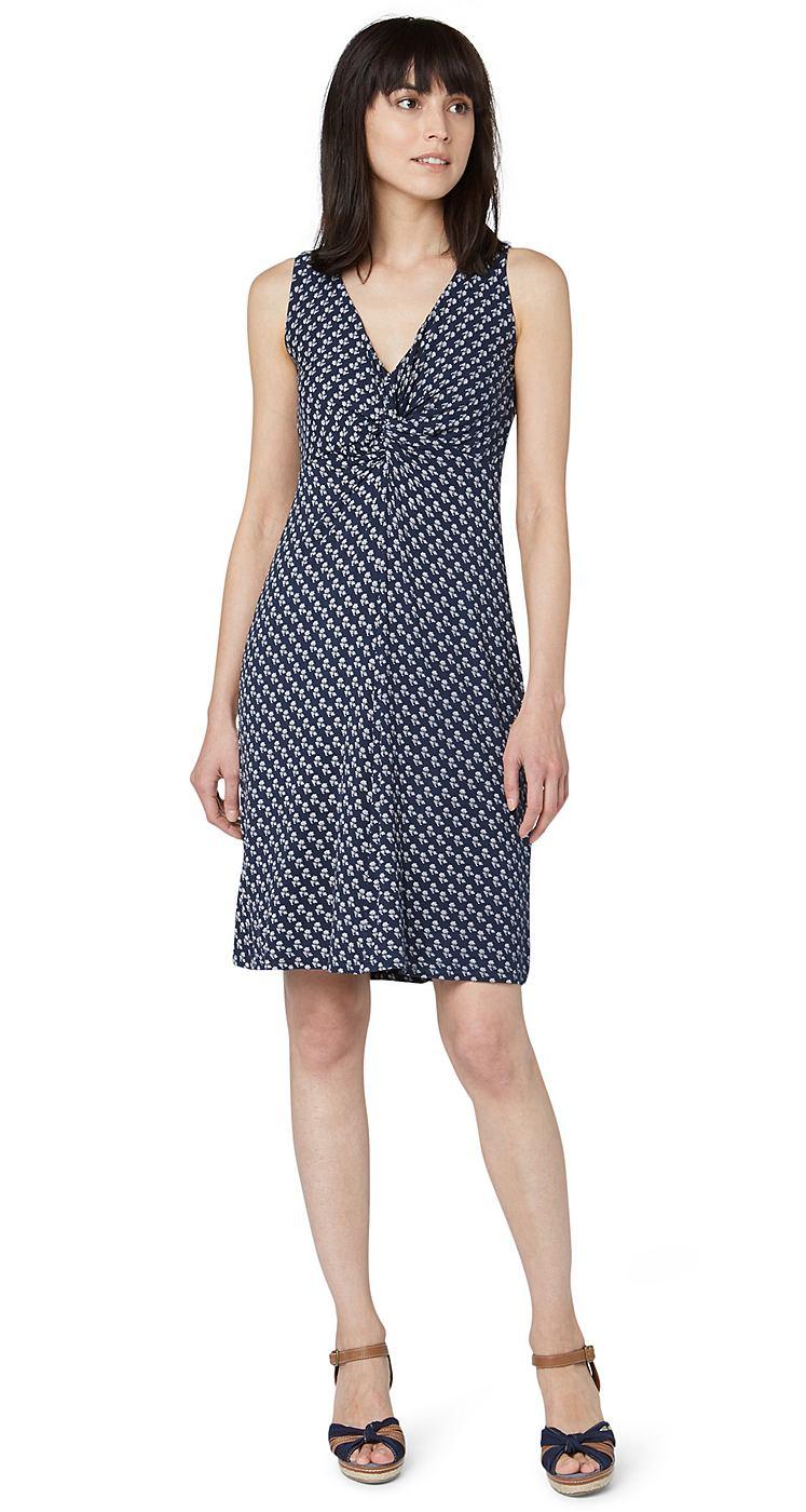Tom Tailor jurk »jersey summer dress« blauw