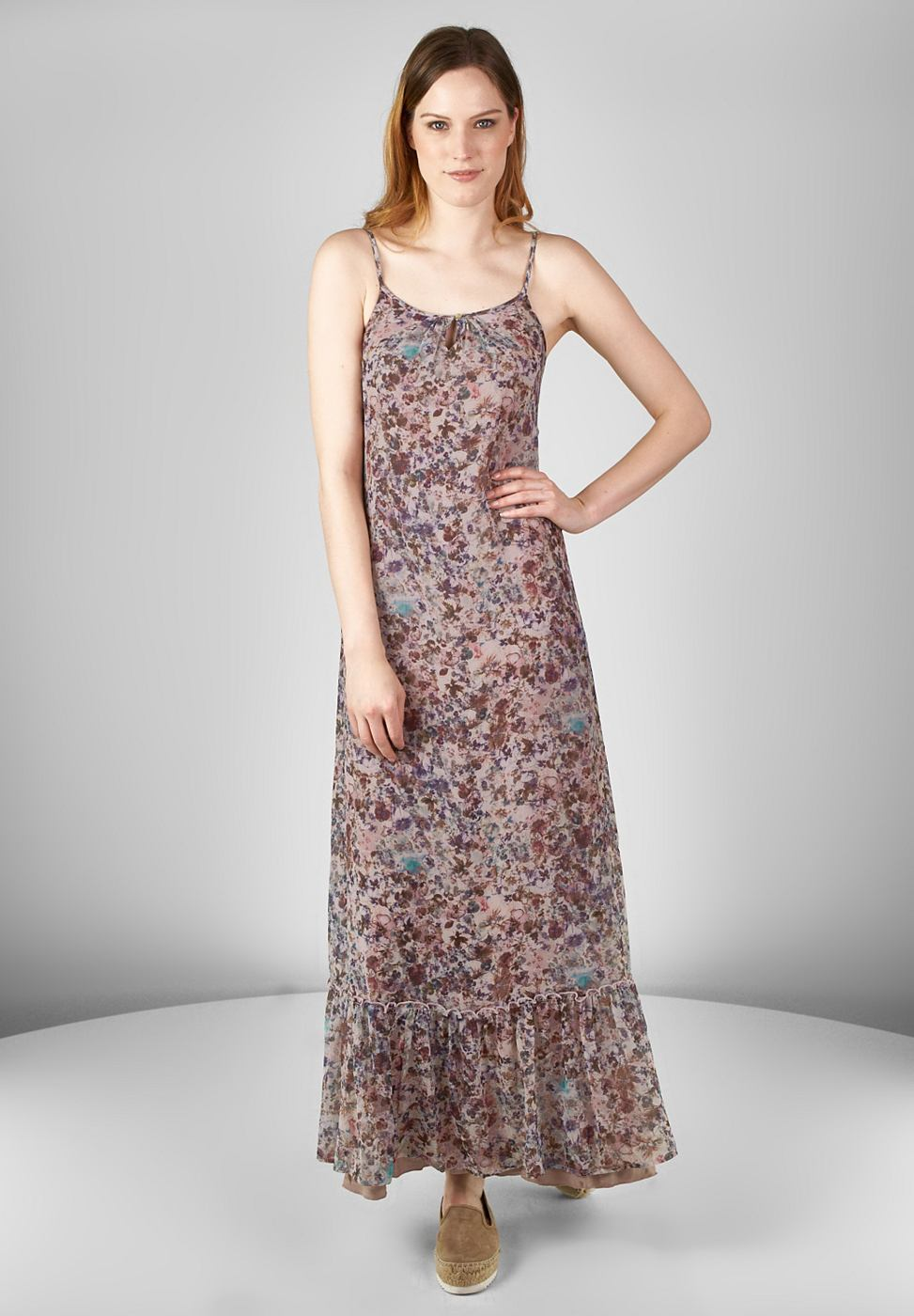 Street One Maxi-jurk met bloemen Jule roze