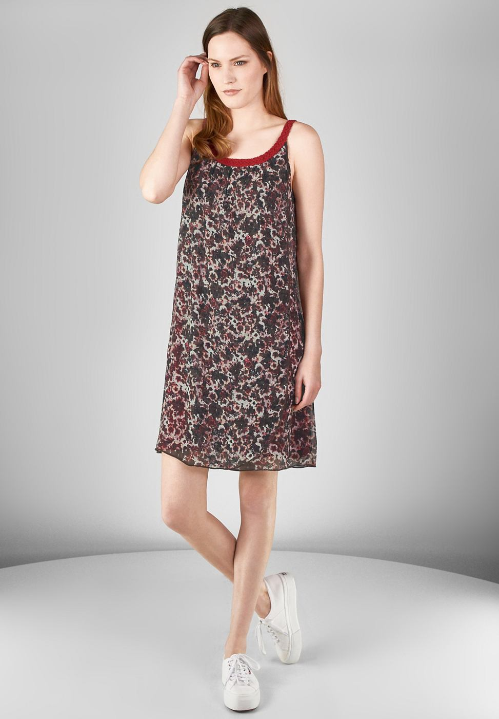Street One jurk van chiffon Jessy rood
