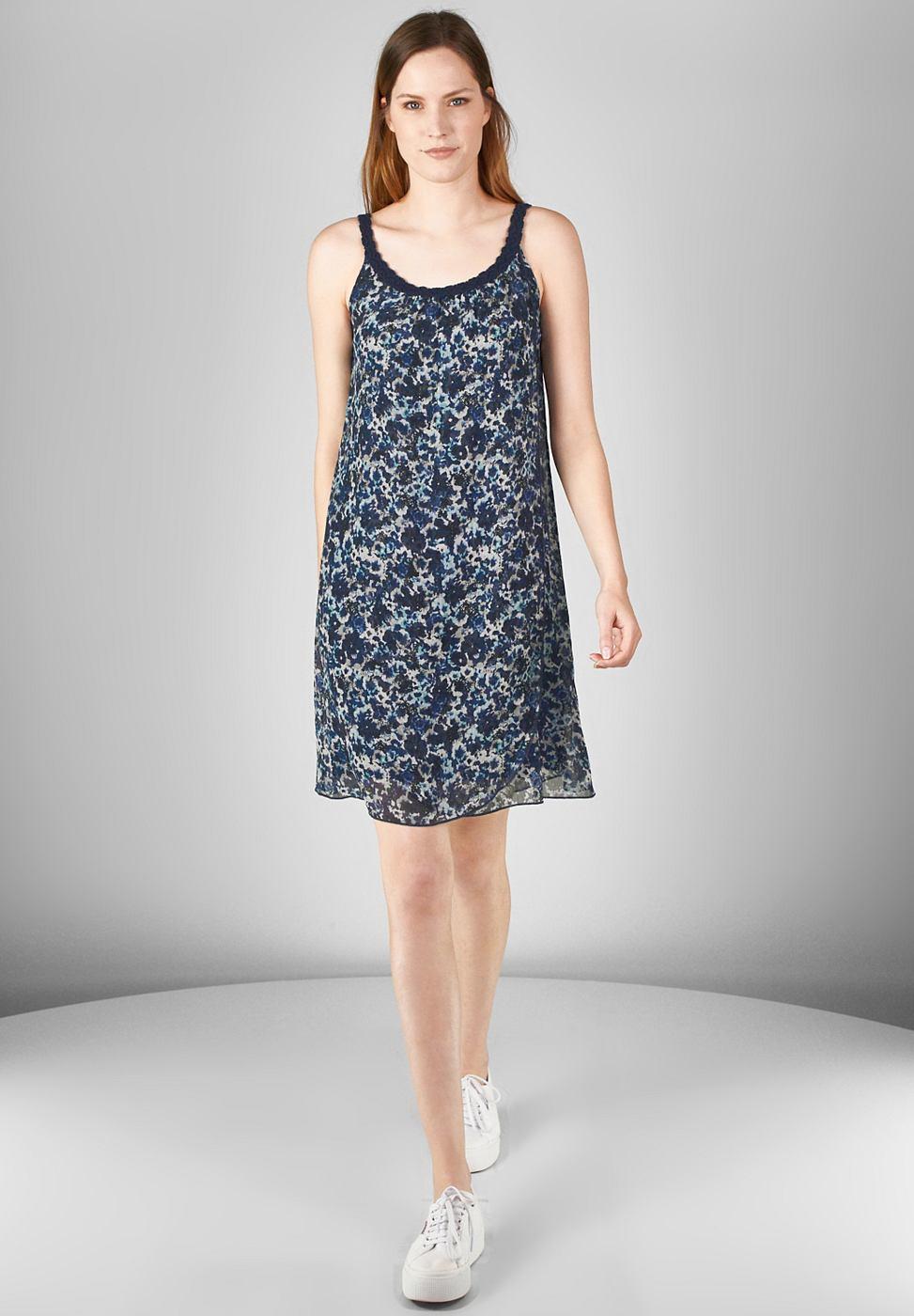 Street One jurk van chiffon Jessy blauw