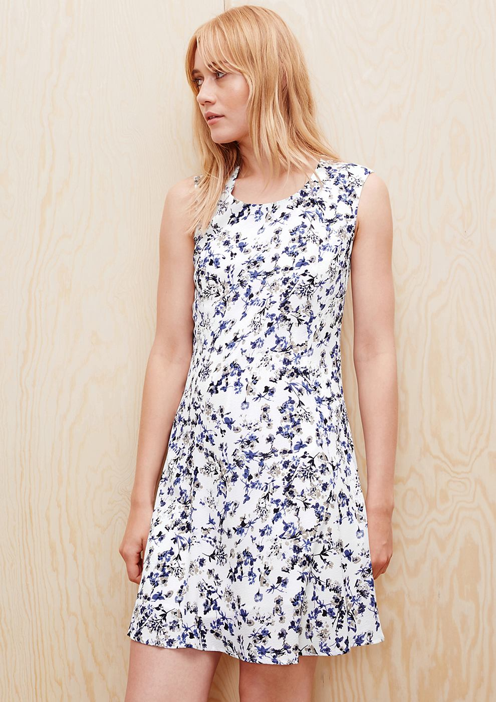 s.Oliver zomerjurk met een print all-over wit