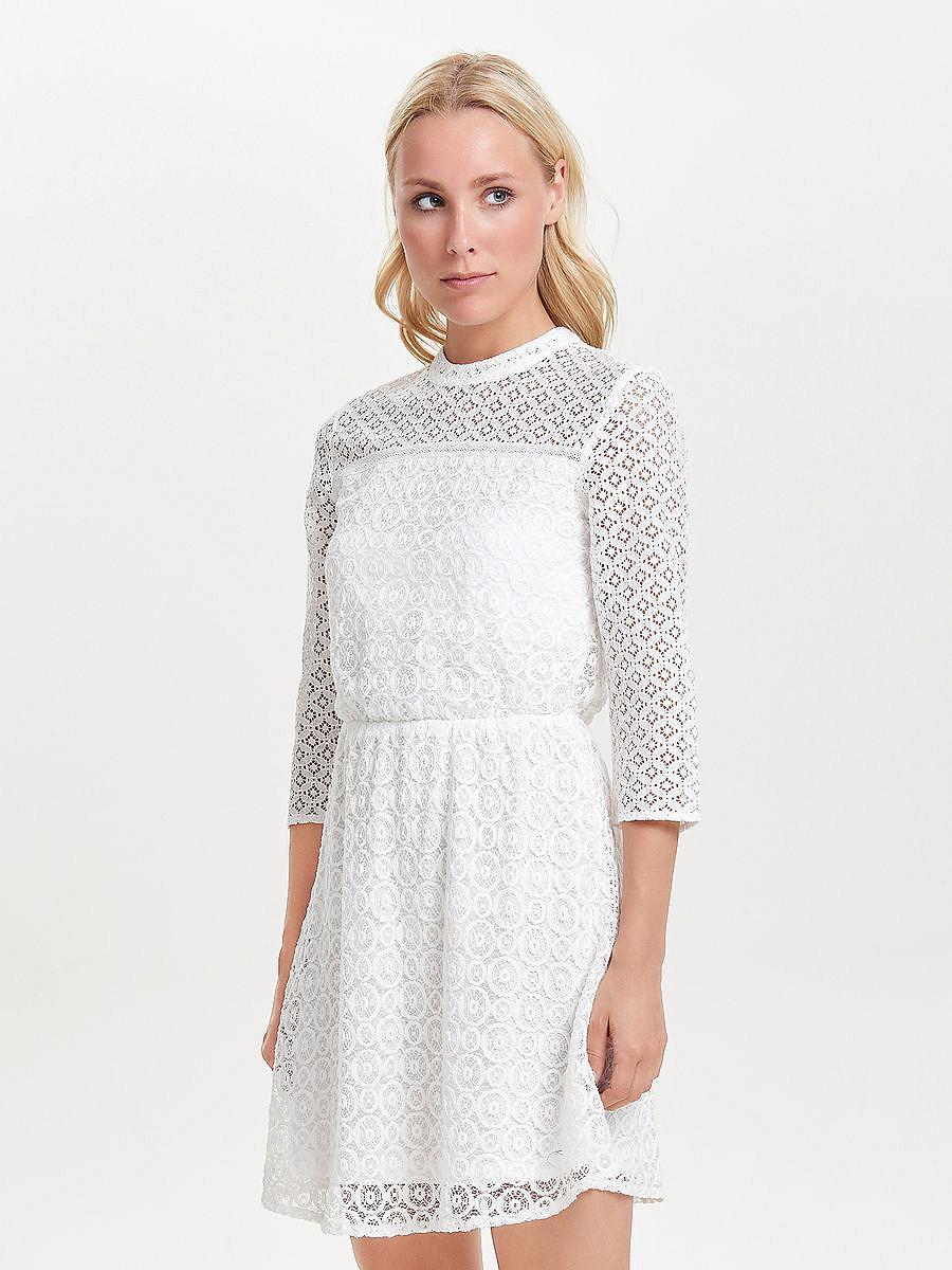 ONLY kanten Korte jurk wit