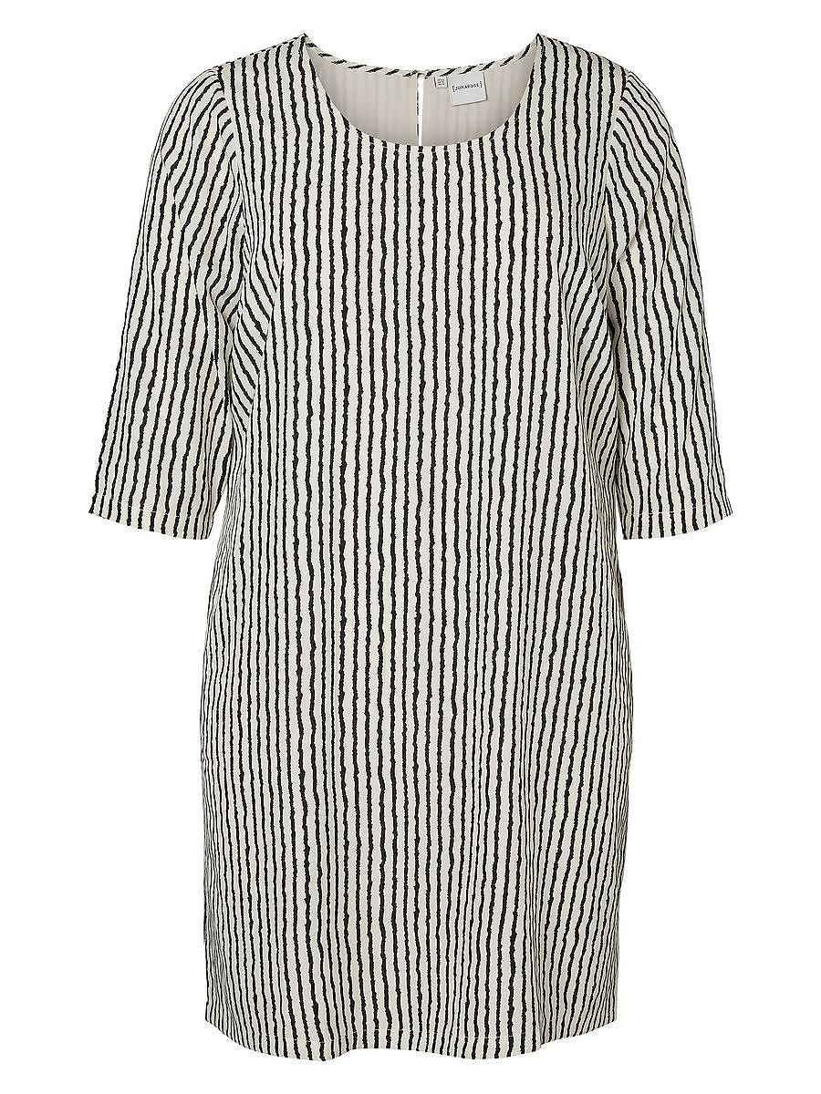 Junarose Print jurk wit