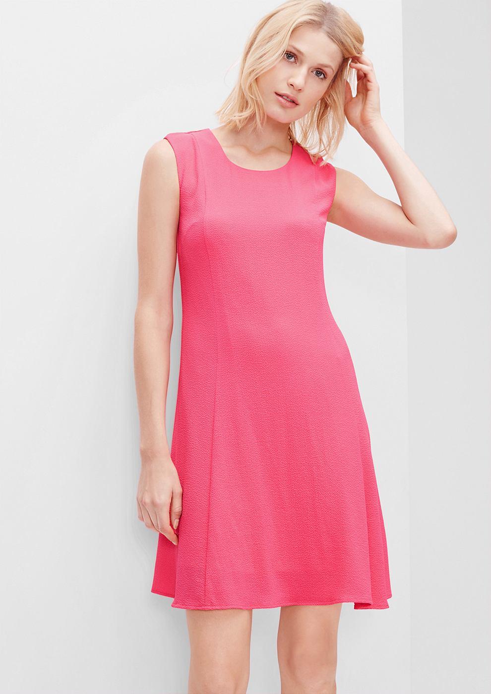 s.Oliver Mouwloze crêpe jurk roze