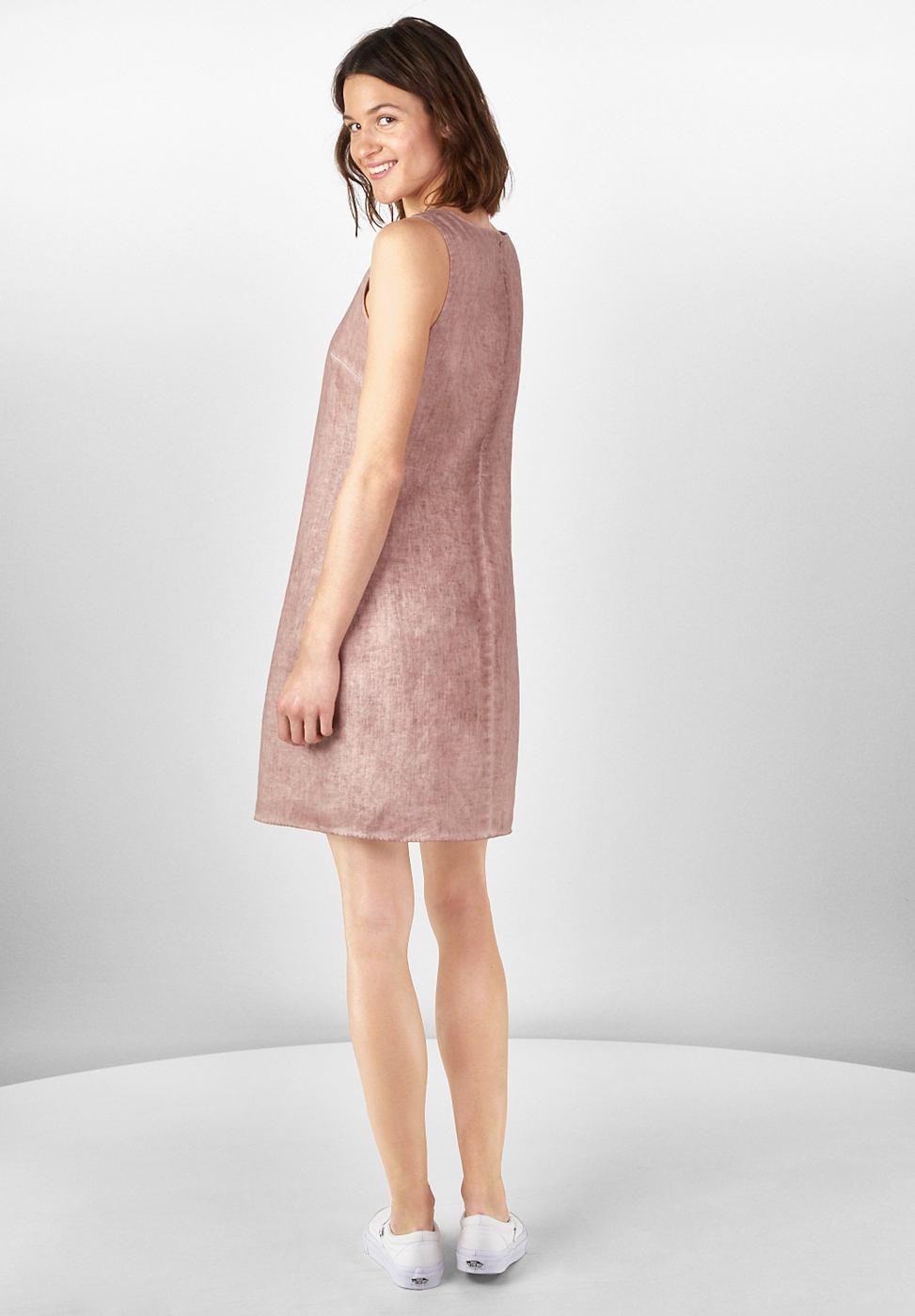 Street One Linnen vintage wash-jurk roze