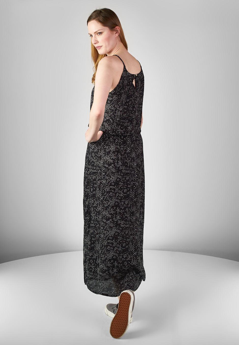 Street One Two-tone-maxi-jurk Jasmin zwart