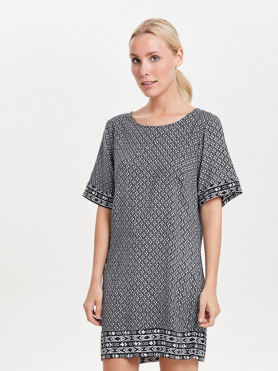 ONLY Print jurk met korte mouwen wit