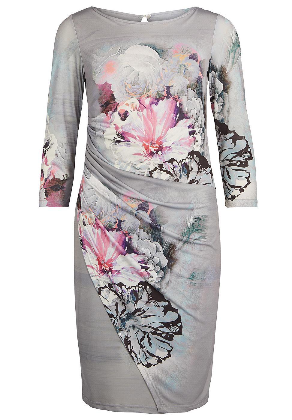 Apart jurk met bloemenpatroon multicolor