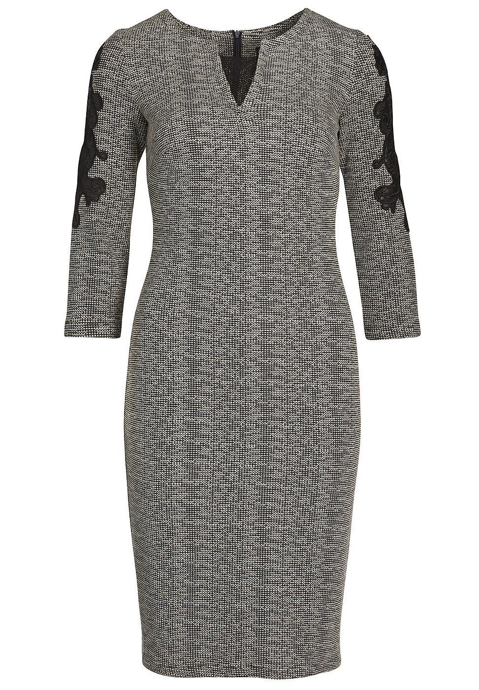 Apart jersey jurk met applicaties grijs