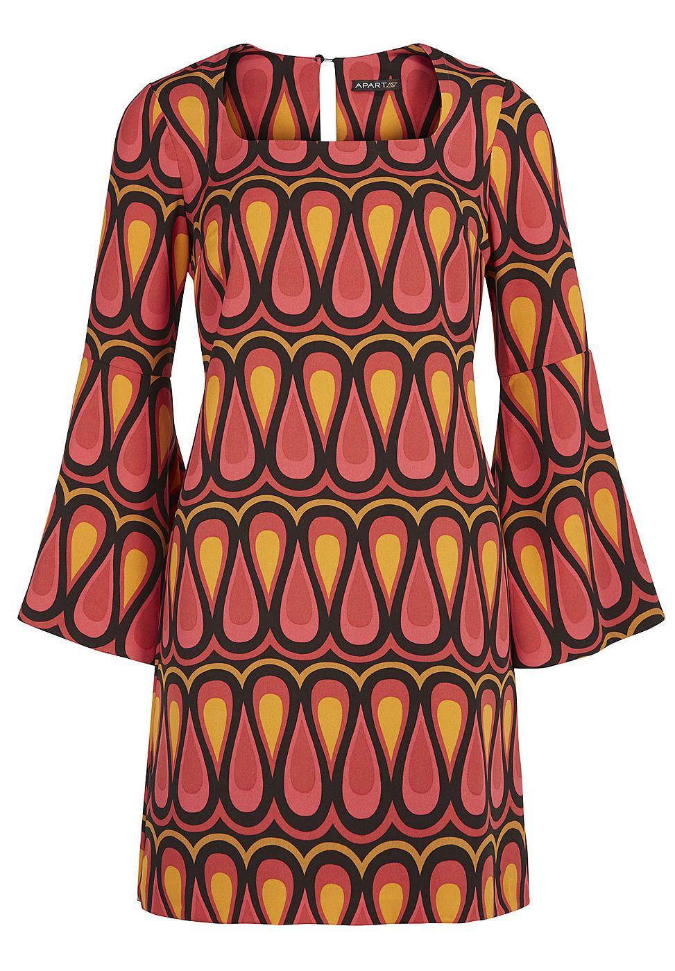 Apart jurk met allover print multicolor