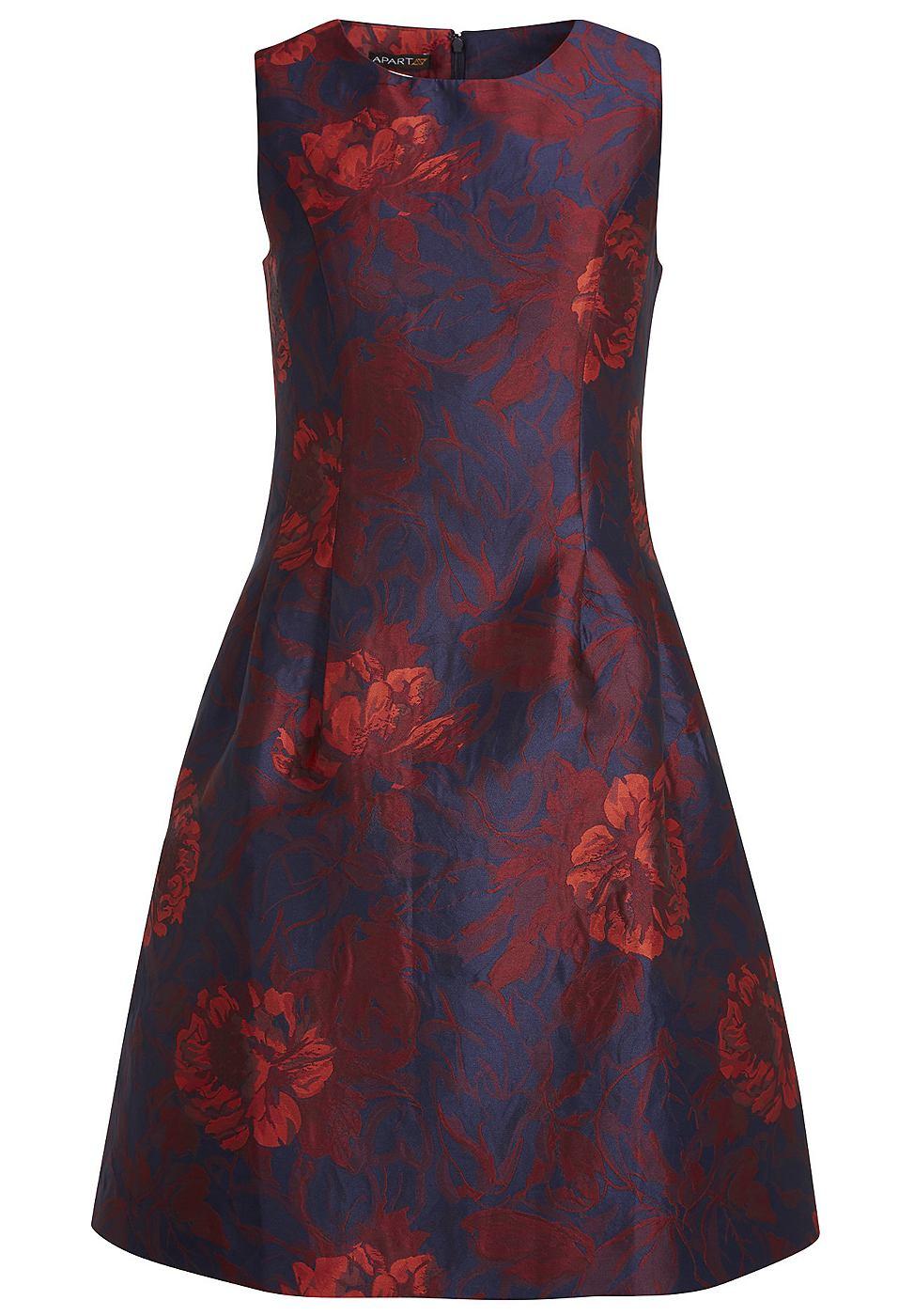 Apart jurk met bloemenpatroon blauw