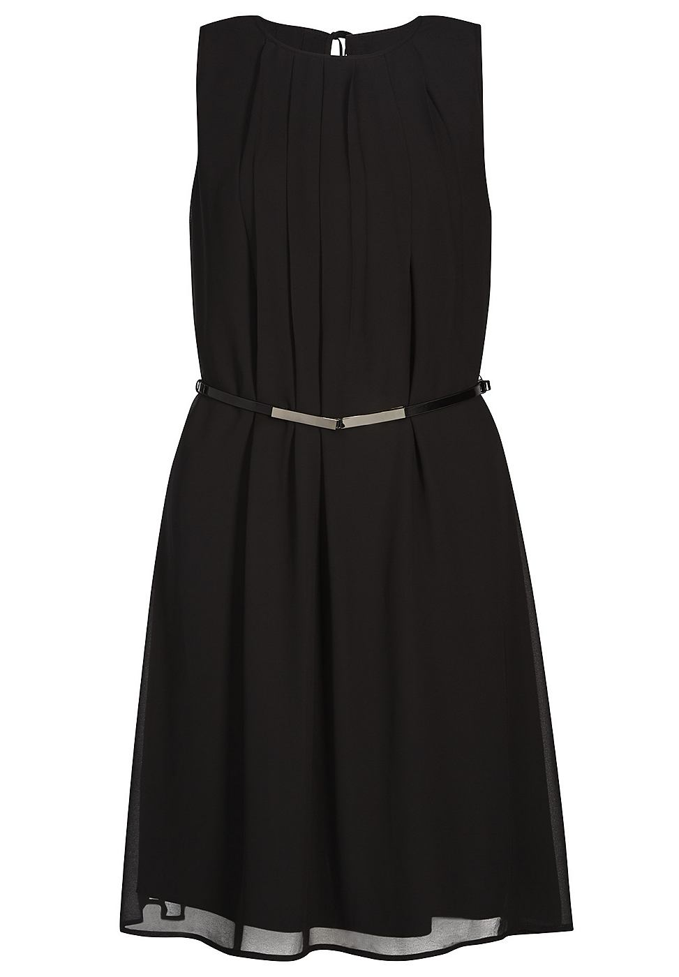 Apart chiffon jurk zwart