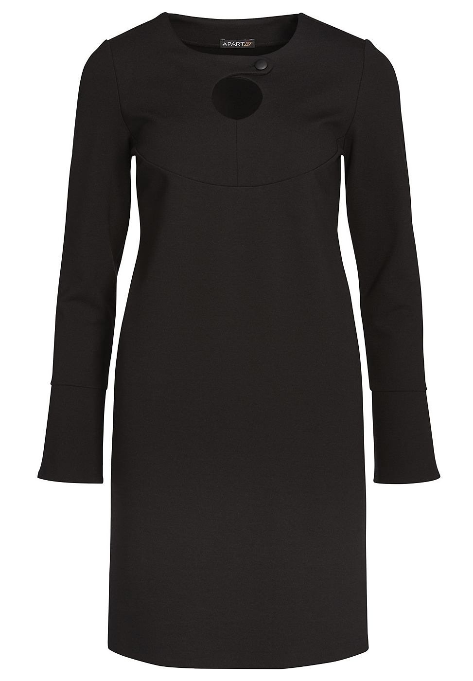 Apart jersey jurk zwart