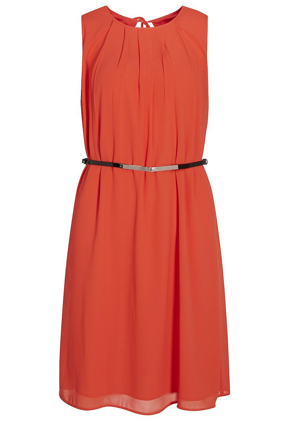 Apart chiffon jurk oranje