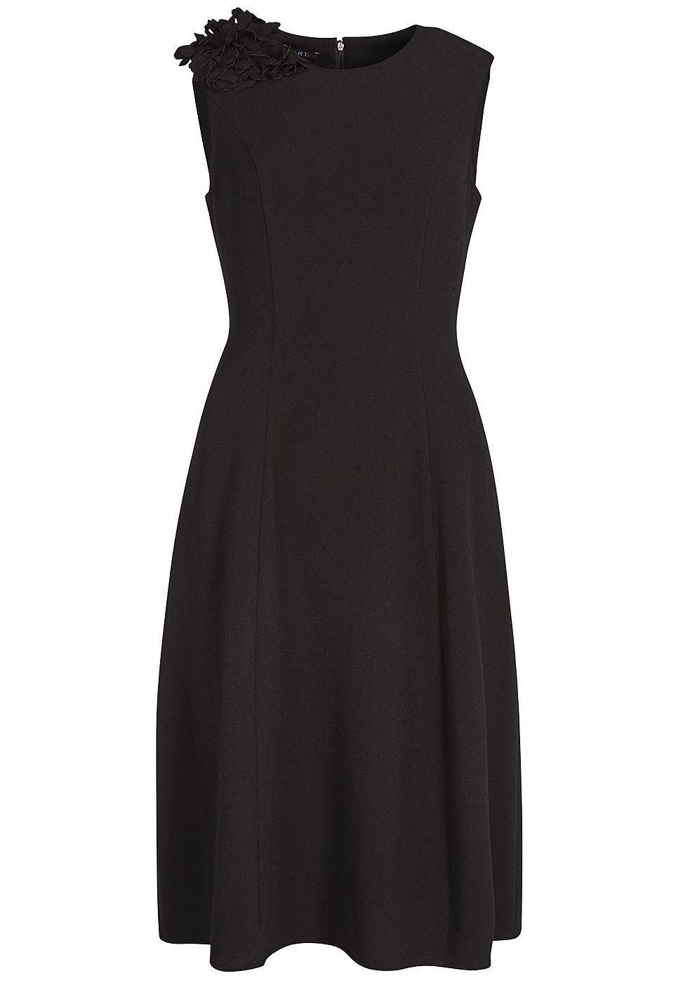Apart jurk met bloem zwart