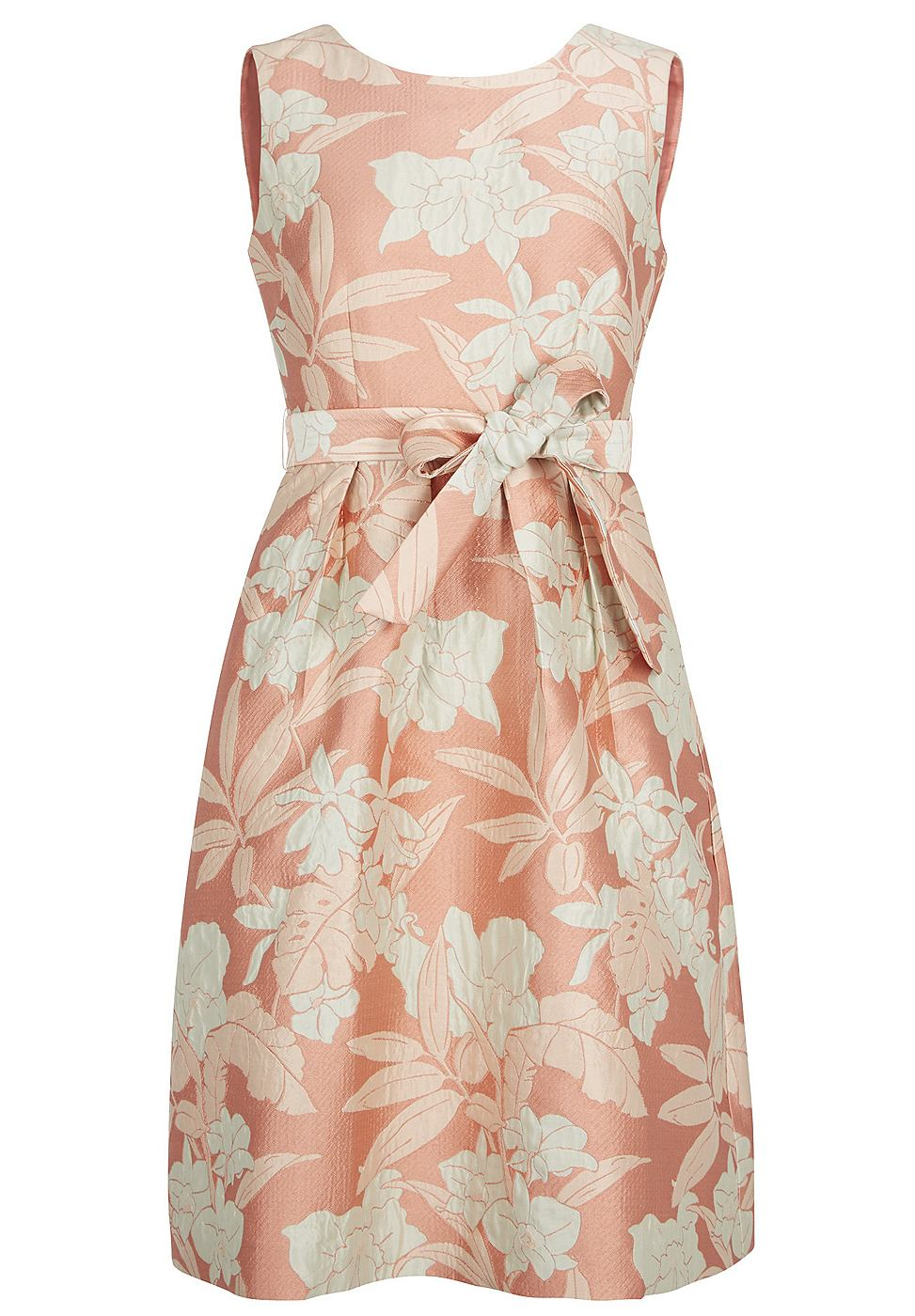 Apart Jacquard jurk met bloemenpatroon multicolor