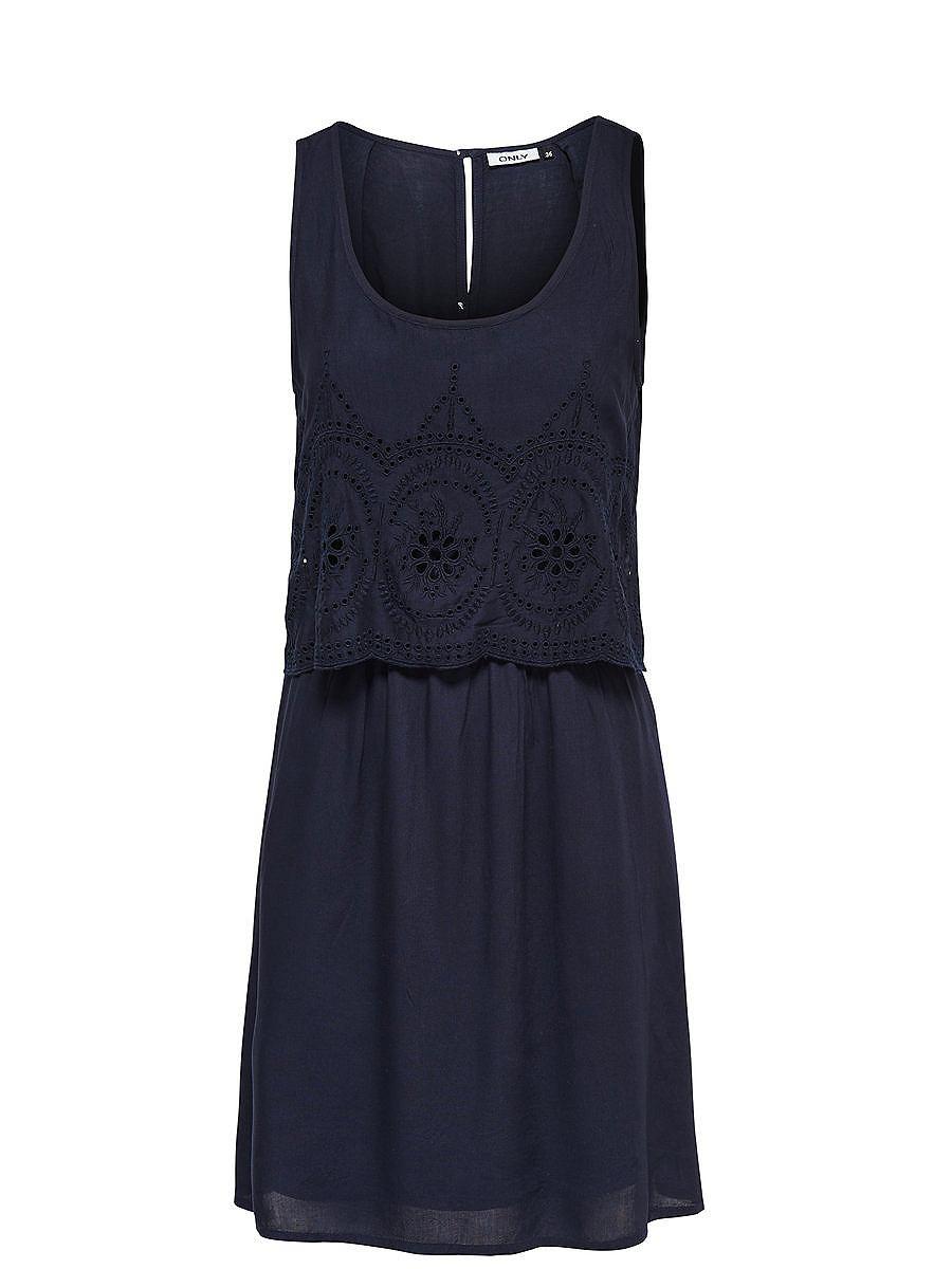 ONLY Gedetailleerde Korte jurk blauw