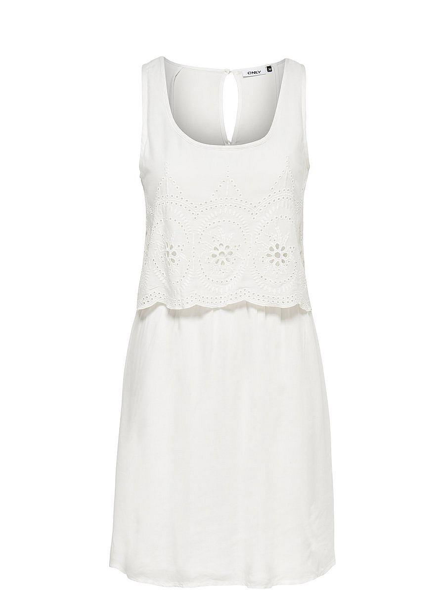 ONLY Gedetailleerde Korte jurk wit