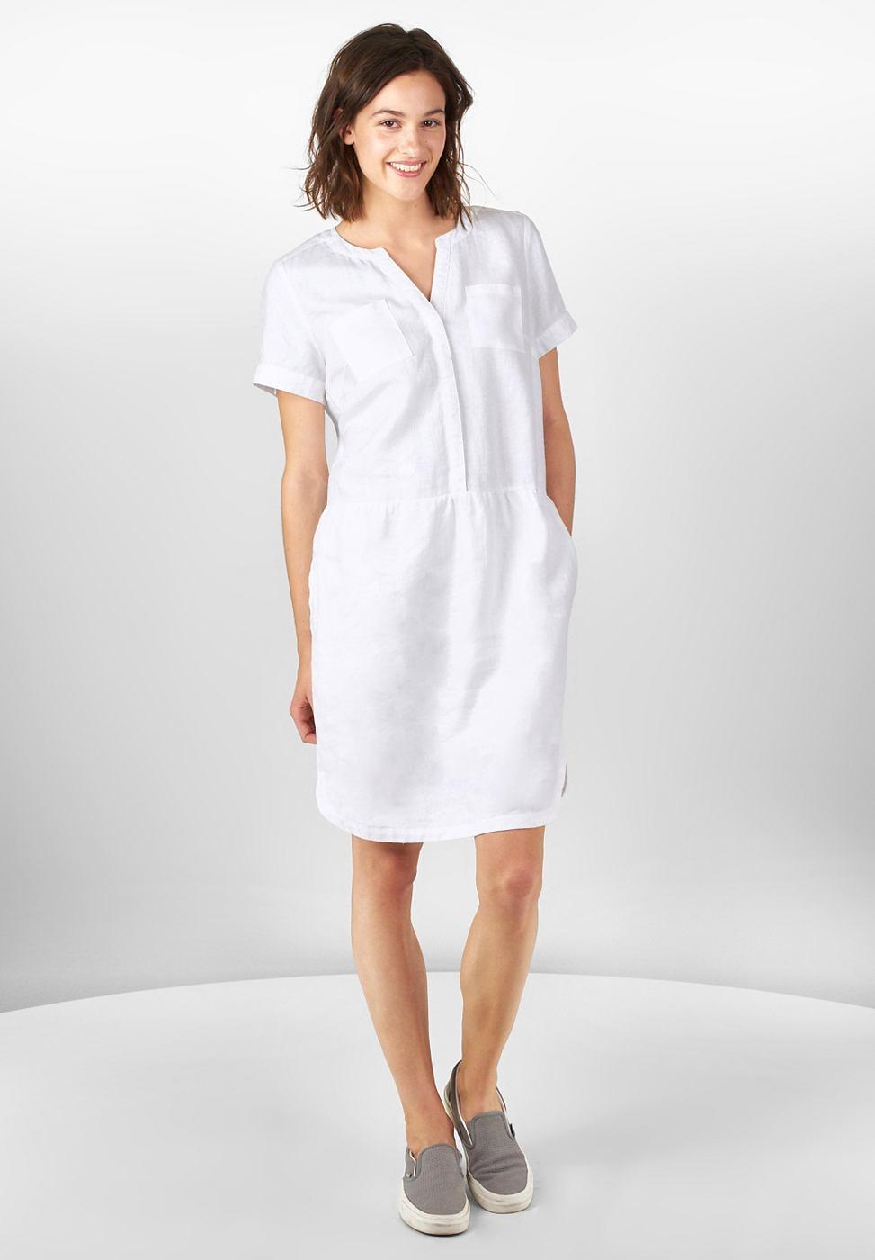 Street One Sportieve jurk van linnen wit