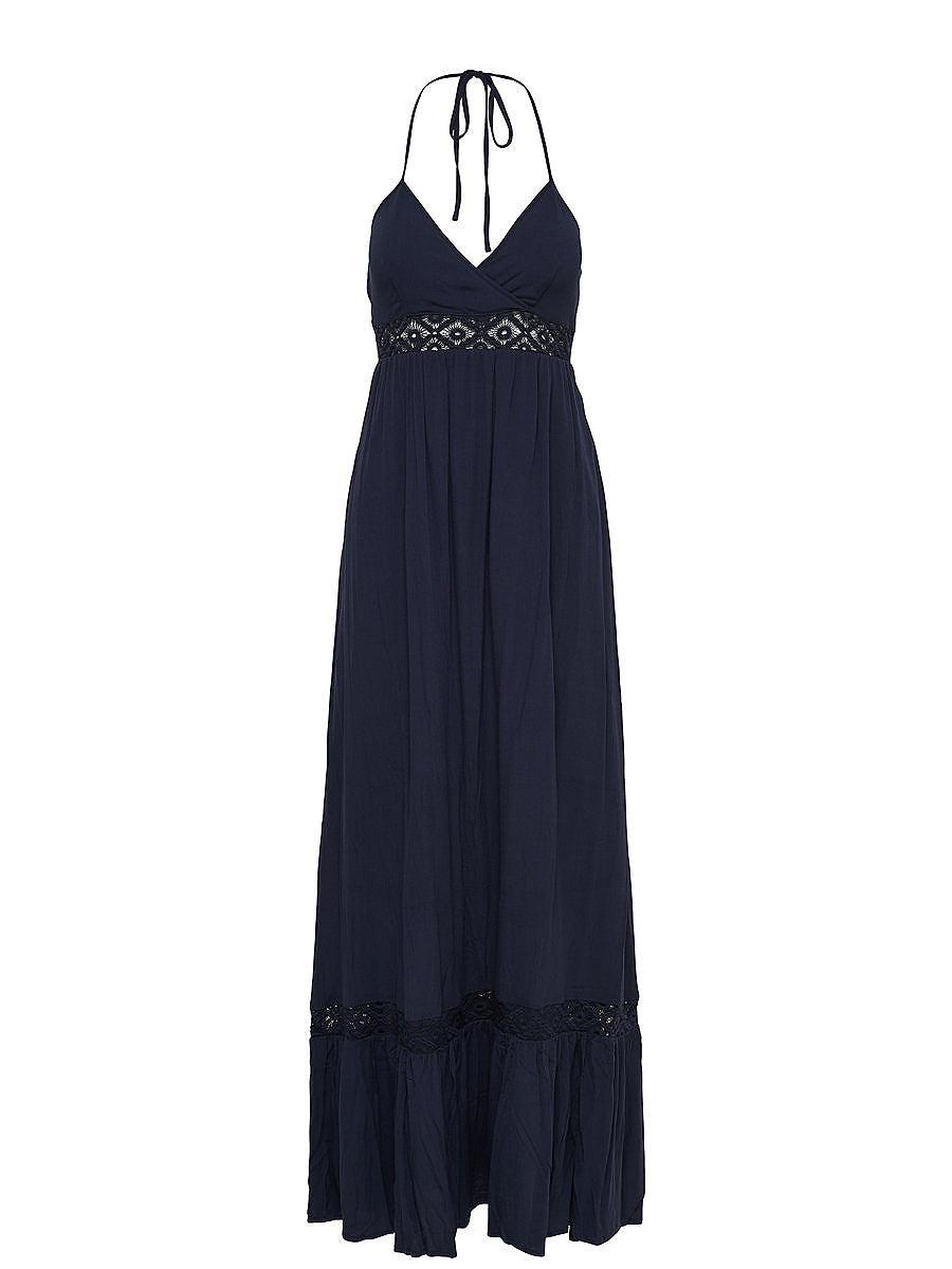 ONLY Halterneck Maxi jurk blauw