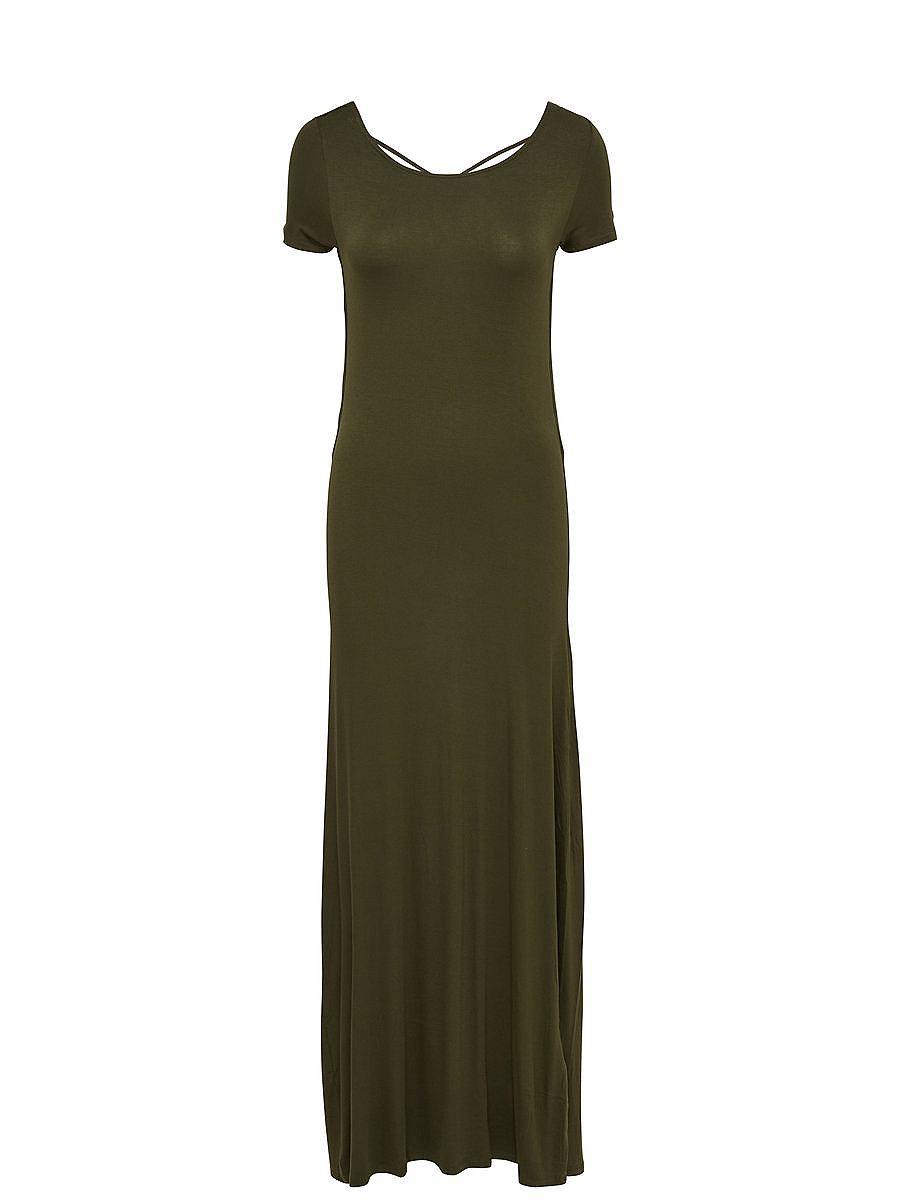 ONLY Lange jurk met korte mouwen groen