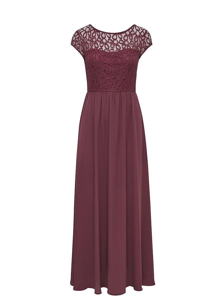 ONLY kanten Maxi jurk paars