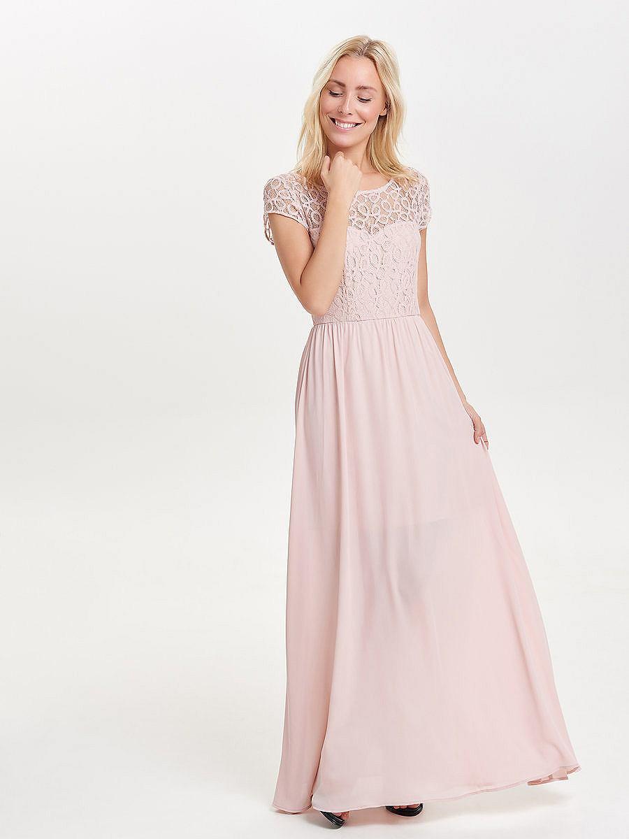 ONLY kanten Maxi jurk roze