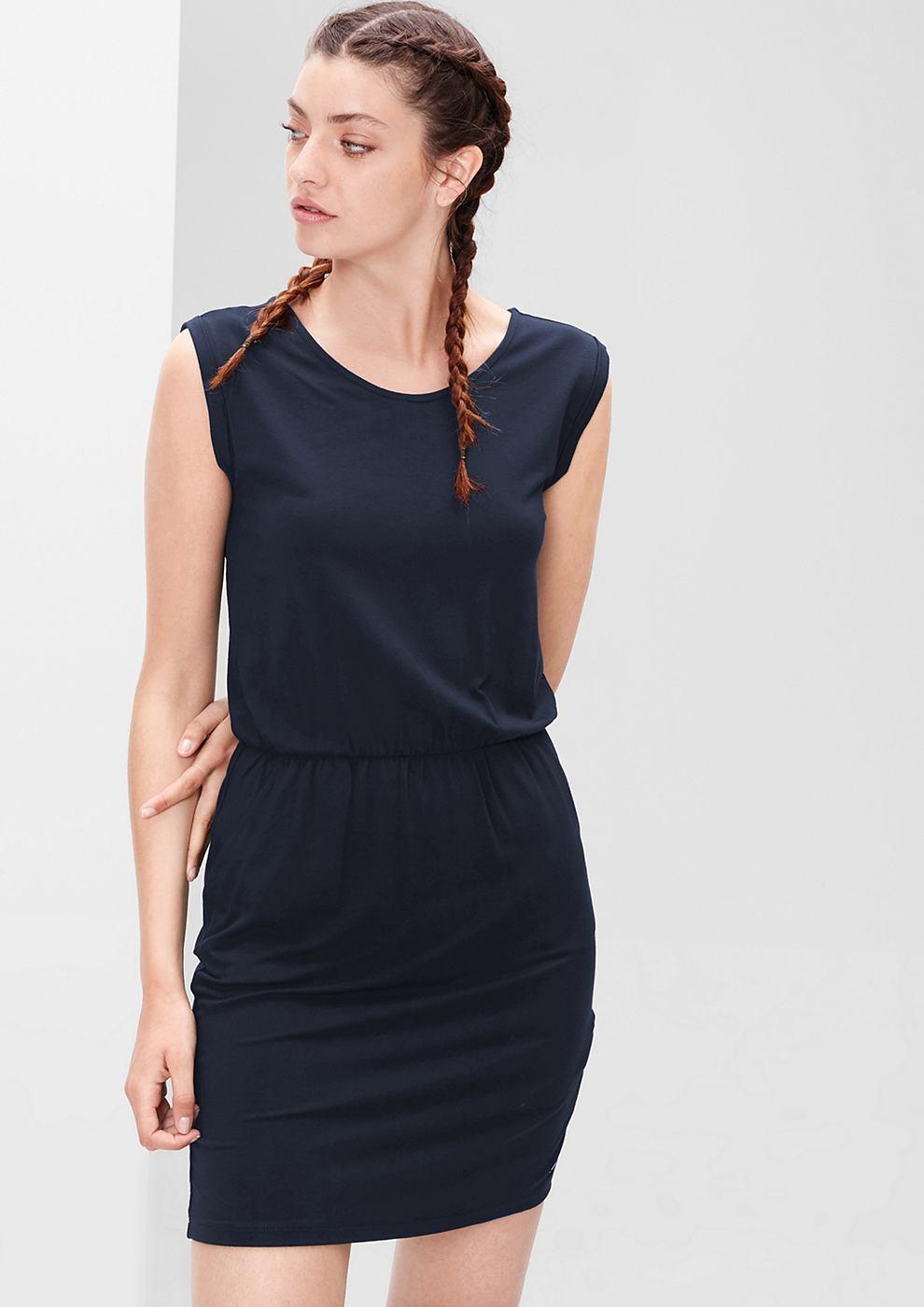 s.Oliver Sportieve jersey jurk blauw