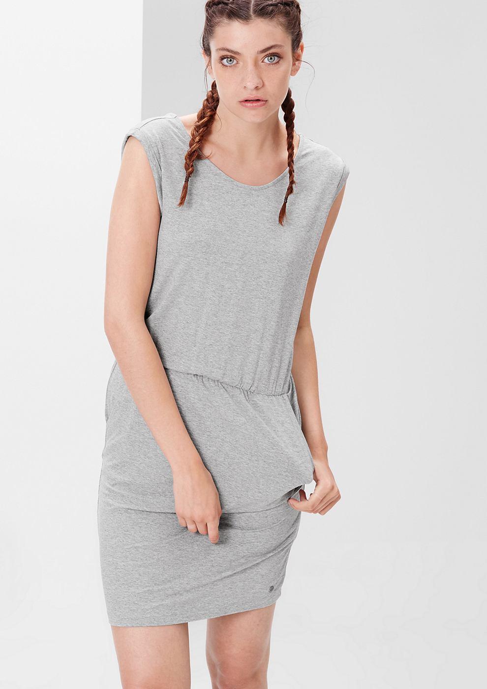 s.Oliver Sportieve jersey jurk grijs