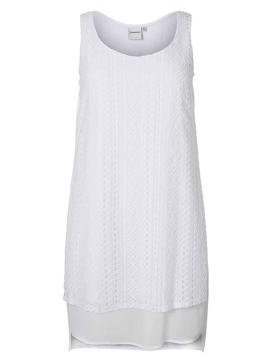 Junarose Gemengde jurk wit