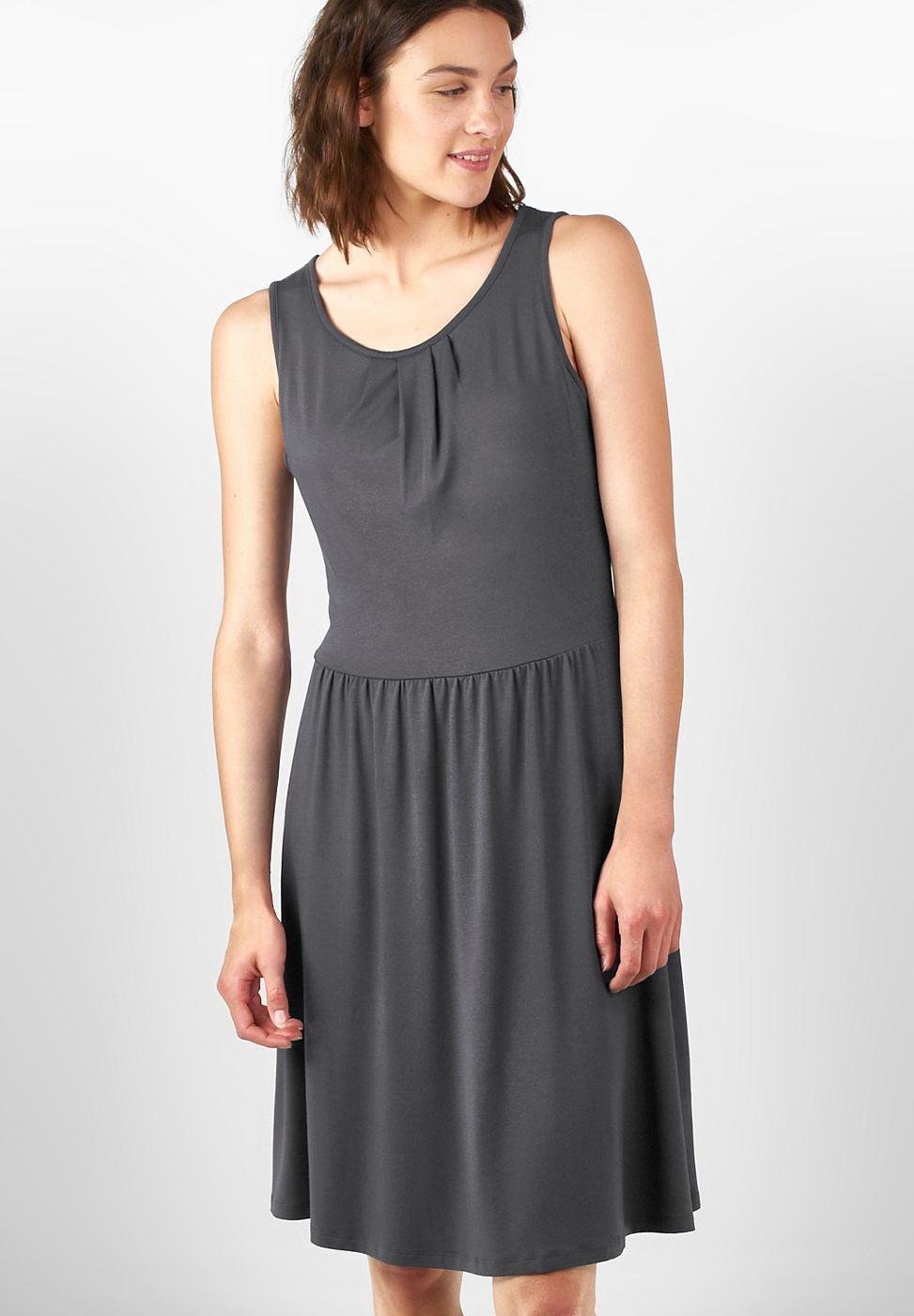 Street One Effen jersey jurk Selina grijs
