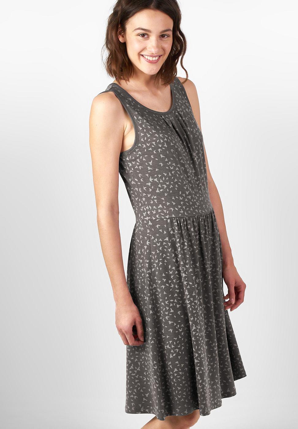 Street One Zachte jersey jurk Sarah grijs